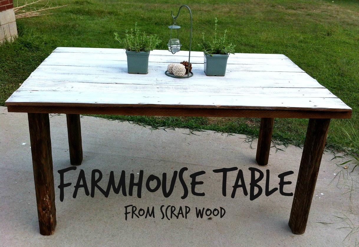 farmhouse table from scrap wood