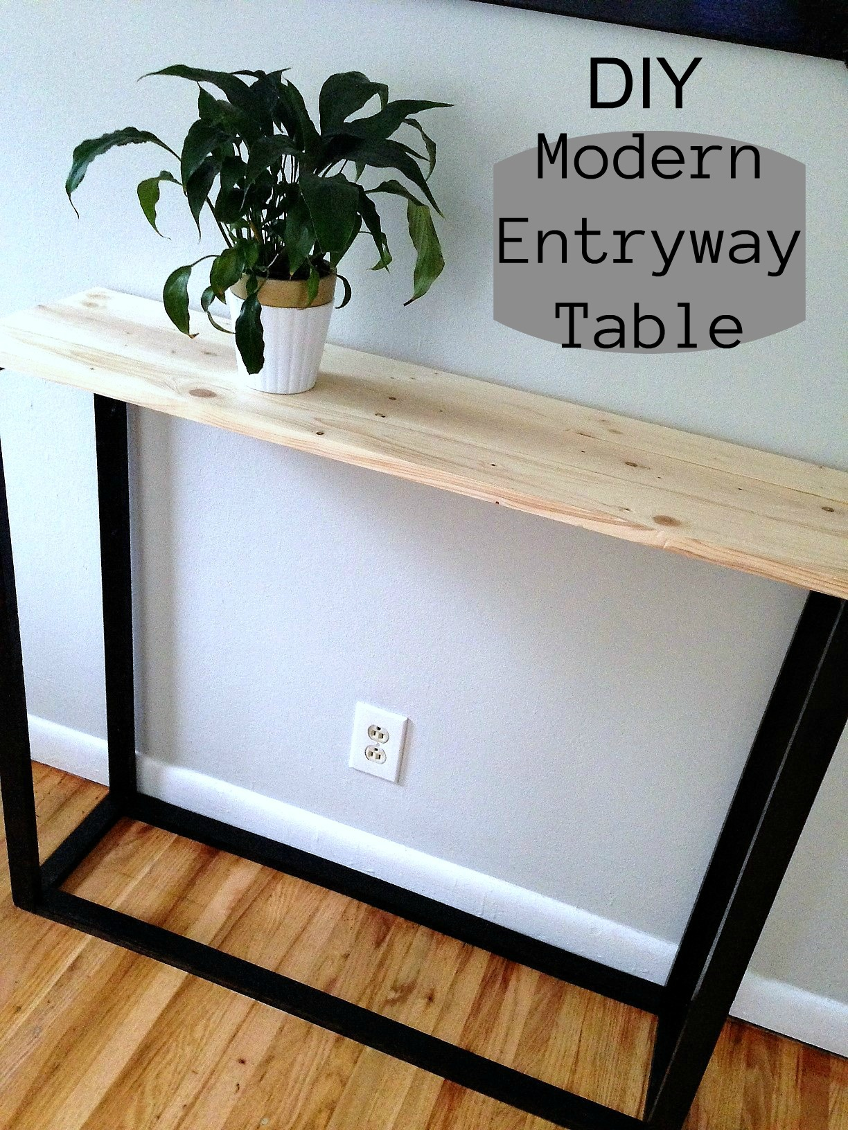 ddiy modern entryway table