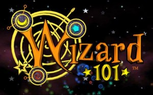 This is the Wizard 101 logo I used as an inspiration for this cake.