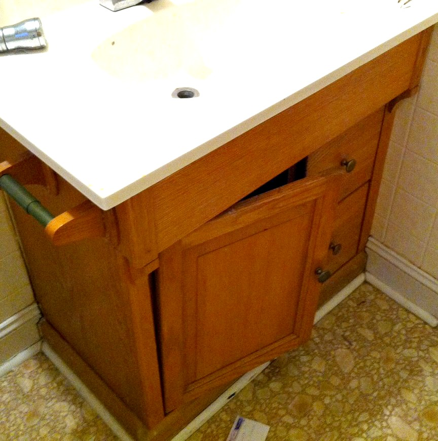 bathroom cabinet before