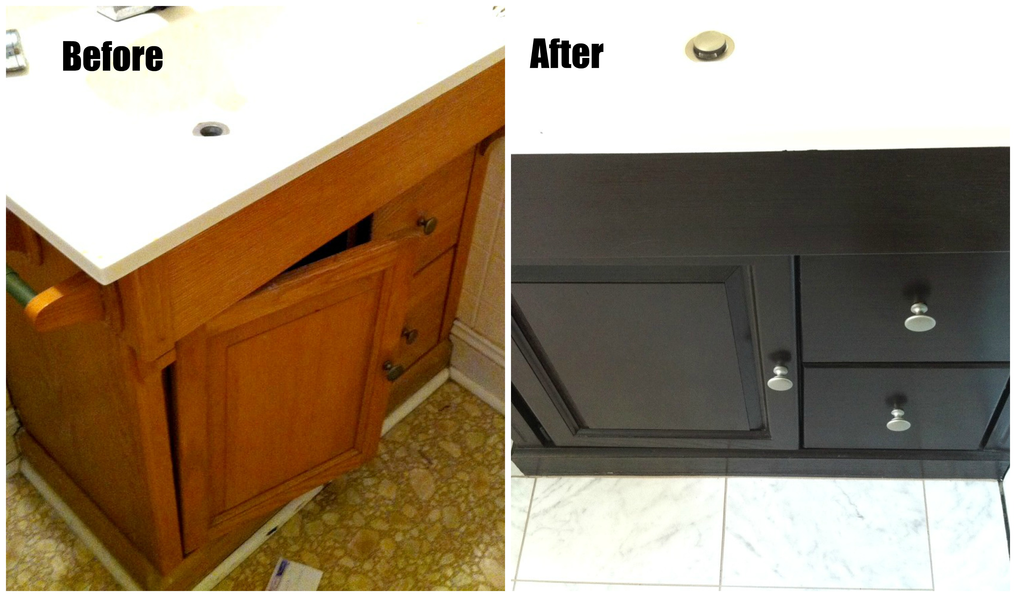 a 15 month java gel stain update gel stain kitchen cabinets kitchen cabinets and bathroom vanity with General Finishes Java Gel Stain vanitymakeovernew