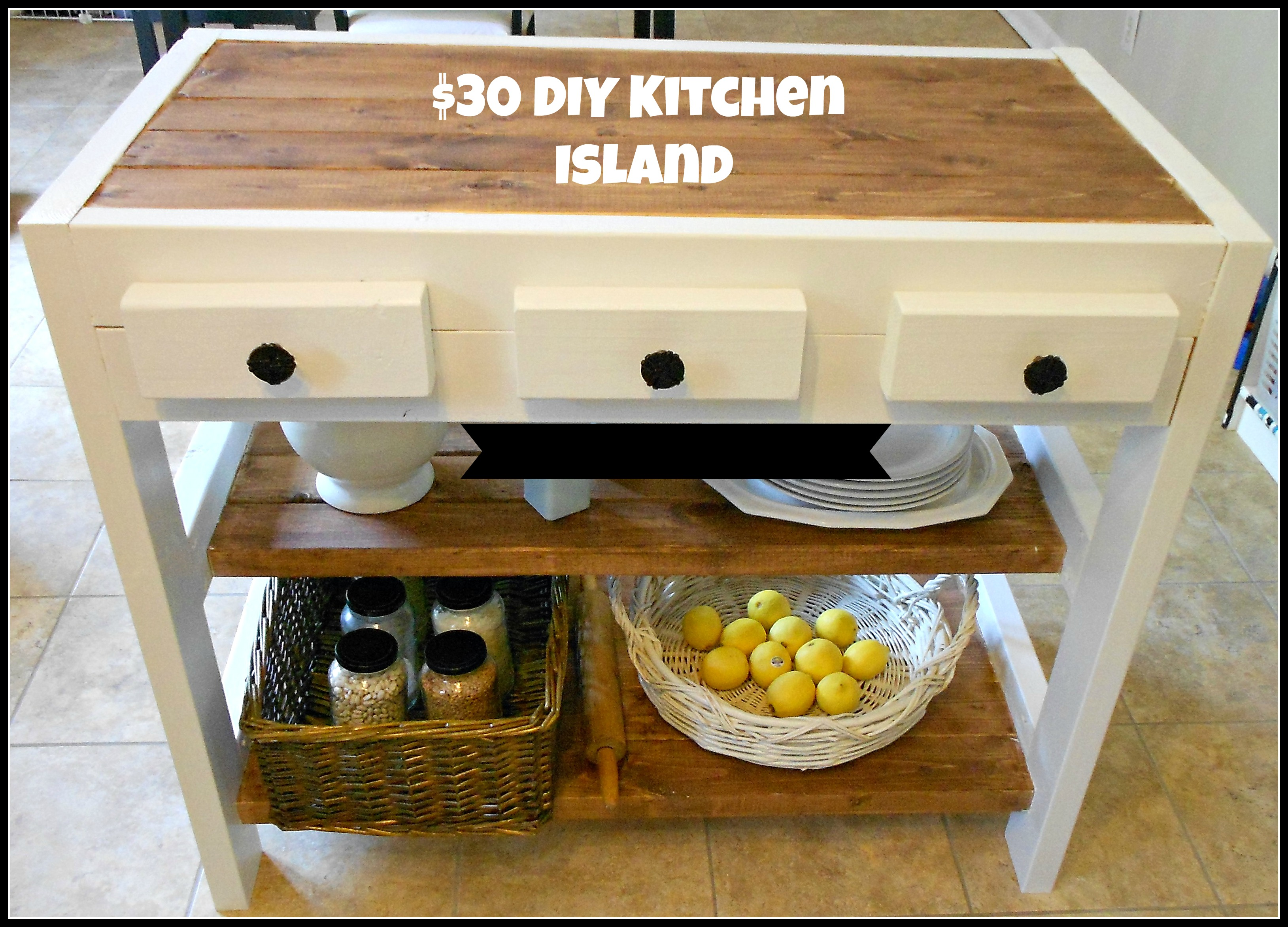$30 DIY Kitchen Island