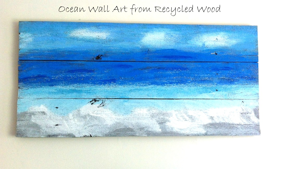 ocean wall art from recycled wood - Ocean Decor
