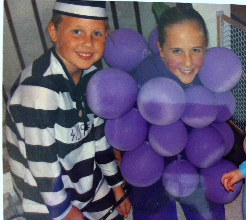 The prisoner costume was bought at a thrift store for $6. The grape costume was homemade.  sc 1 st  Mom in Music City & Throwback Halloween Costumes - Mom in Music City