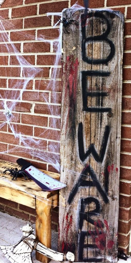 Halloween Decor from Scrap Wood
