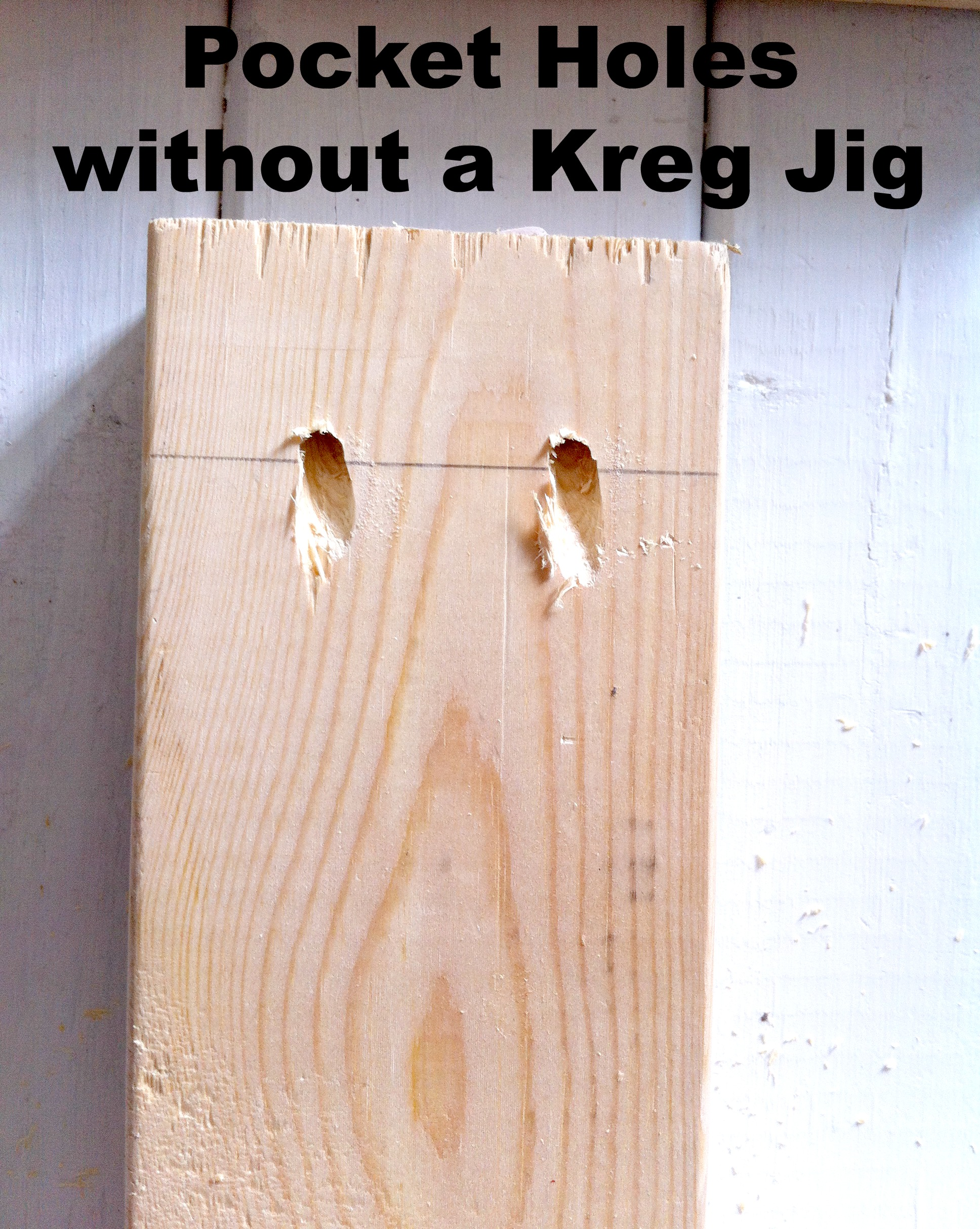 How to Make Pocket Holes WITHOUT a Kreg Jig - Mom in Music City