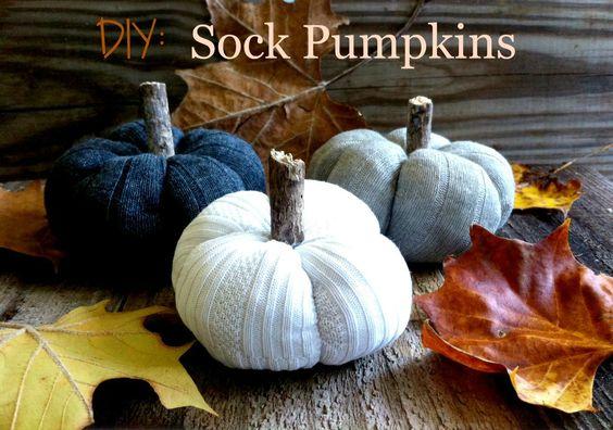 DIY: Sock Pumpkins