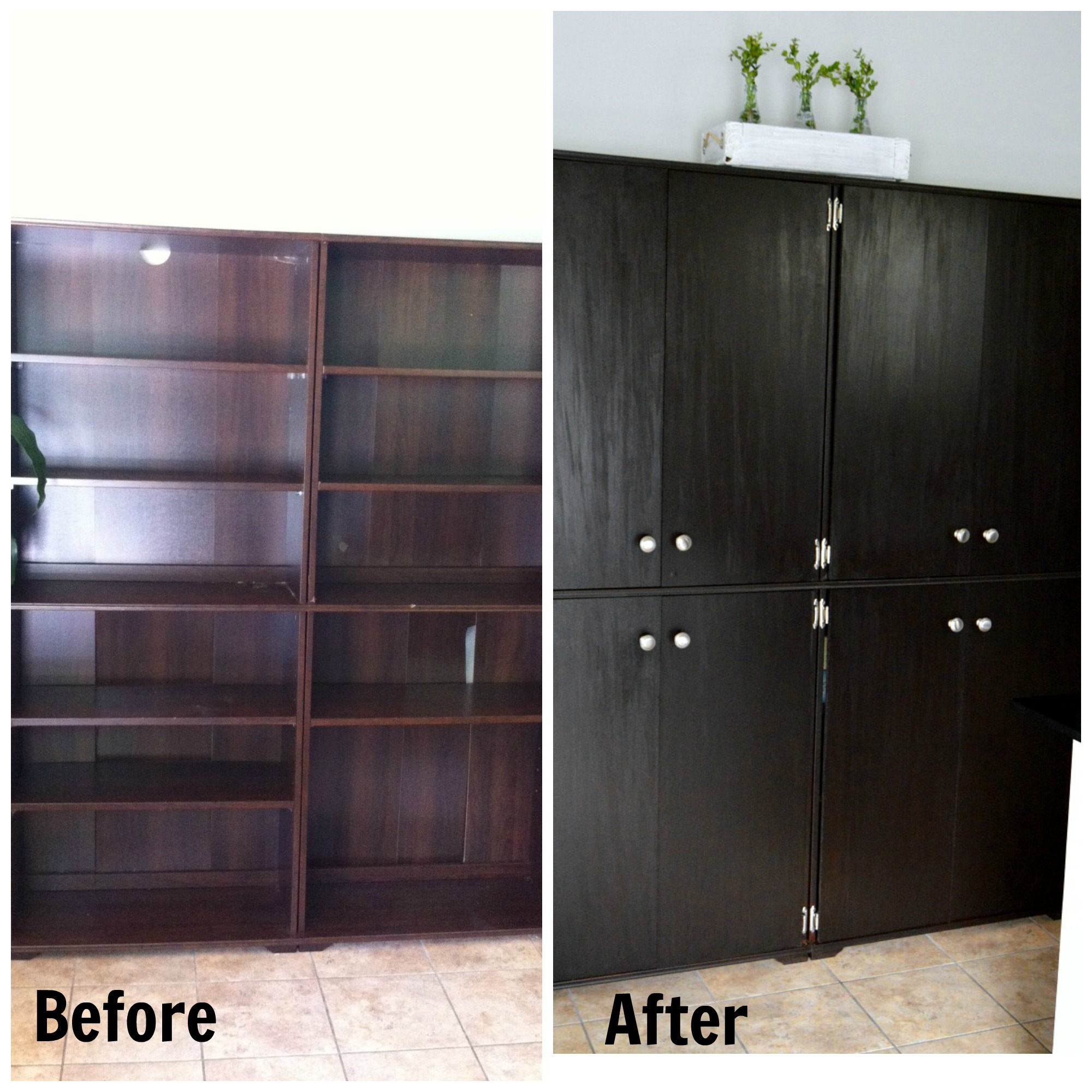 Bookcase To Pantry (adding doors)