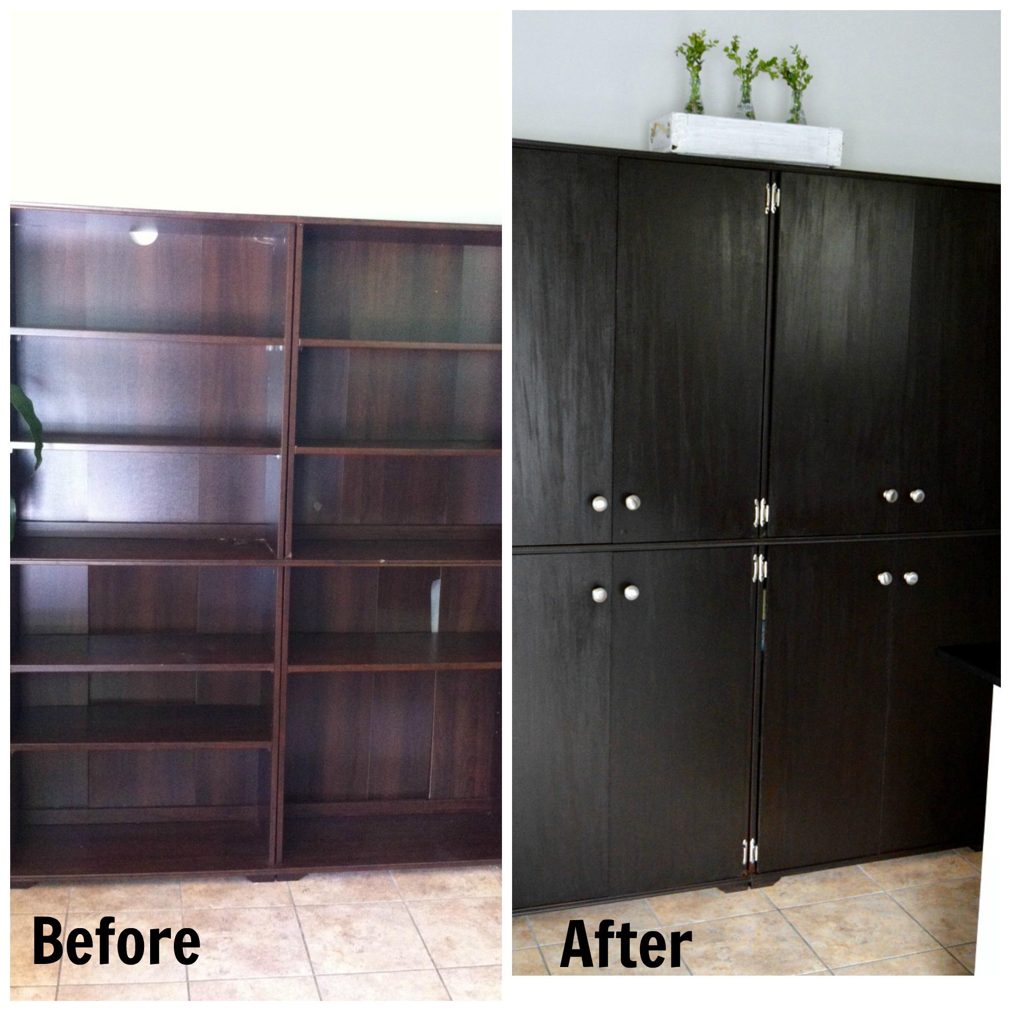 Bookcase To Pantry (adding doors)